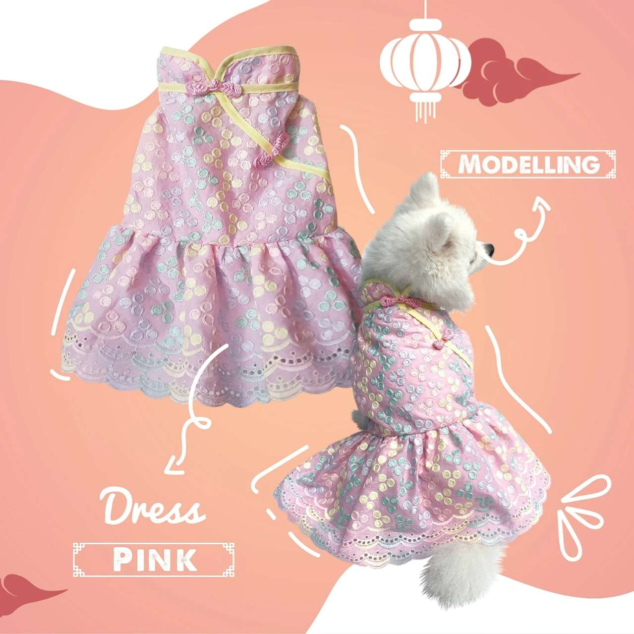 Animal Go Round - Pink Qipao dress Photo