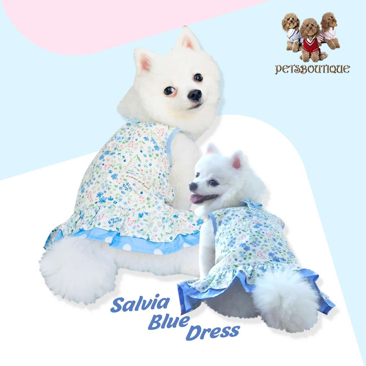 Animal Go Round - Salvia Blue Dress Photo