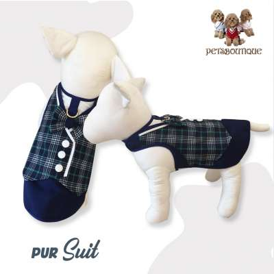 Glitter Pooch - PUR SUIT DOG & CAT HARNESS Photo