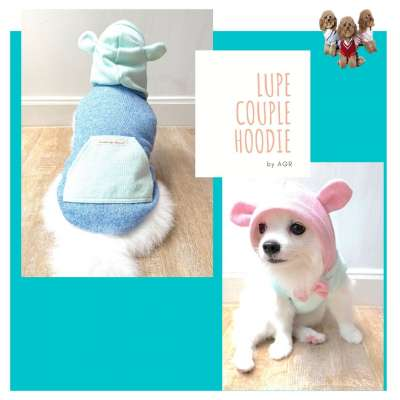Animal Go Round - Lupe Pink & Blue Hoodie Photo