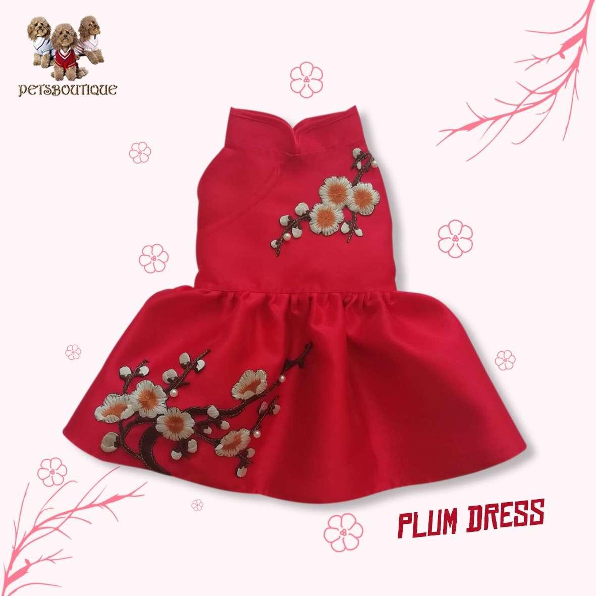 Petza - Chinese New Year Oriental - Red Plum Dress Photo