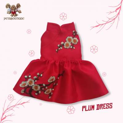 Petza - Chinese New Year Oriental - Red Plum Dress Photo