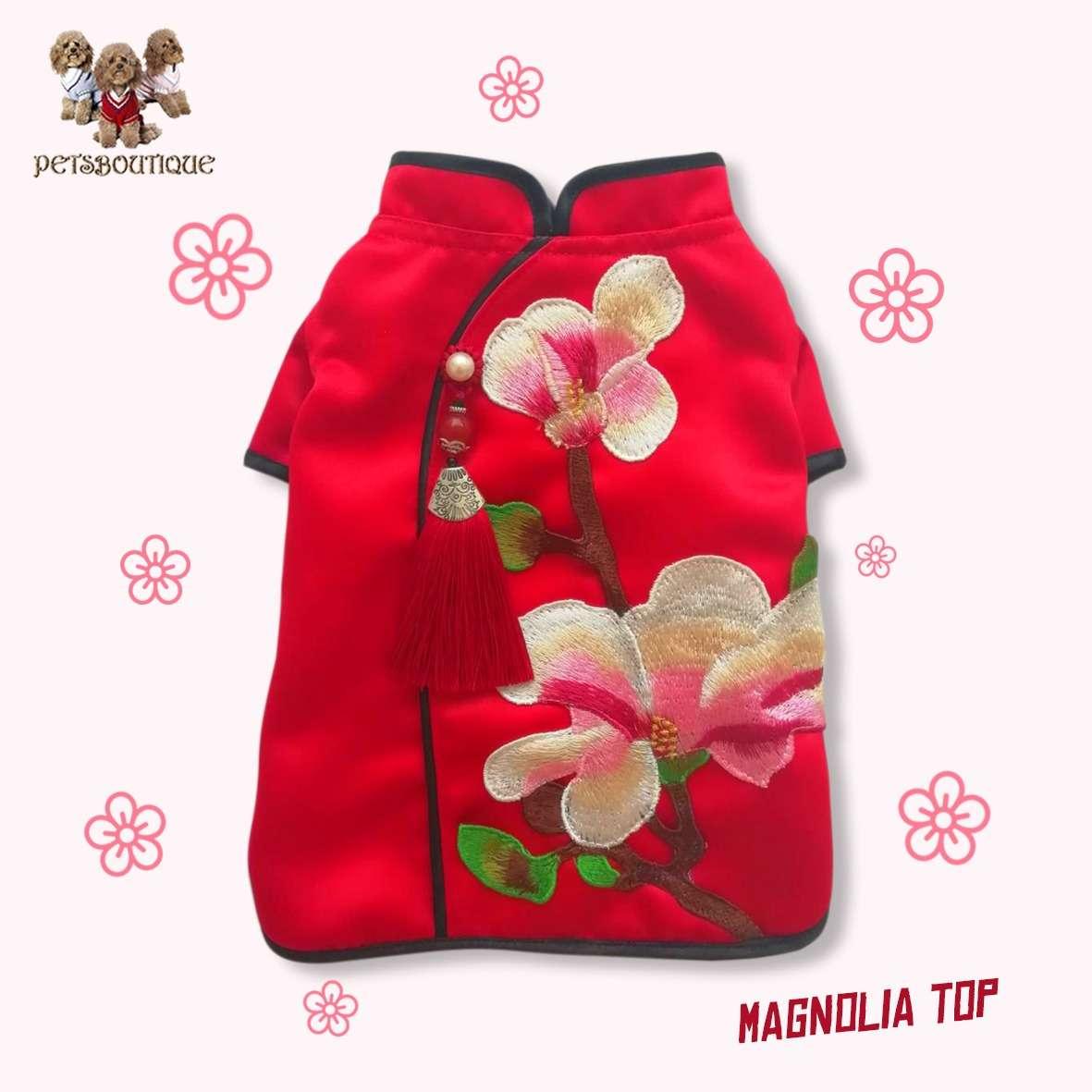 Petza - Chinese New Year Oriental - Magnolia Top Photo