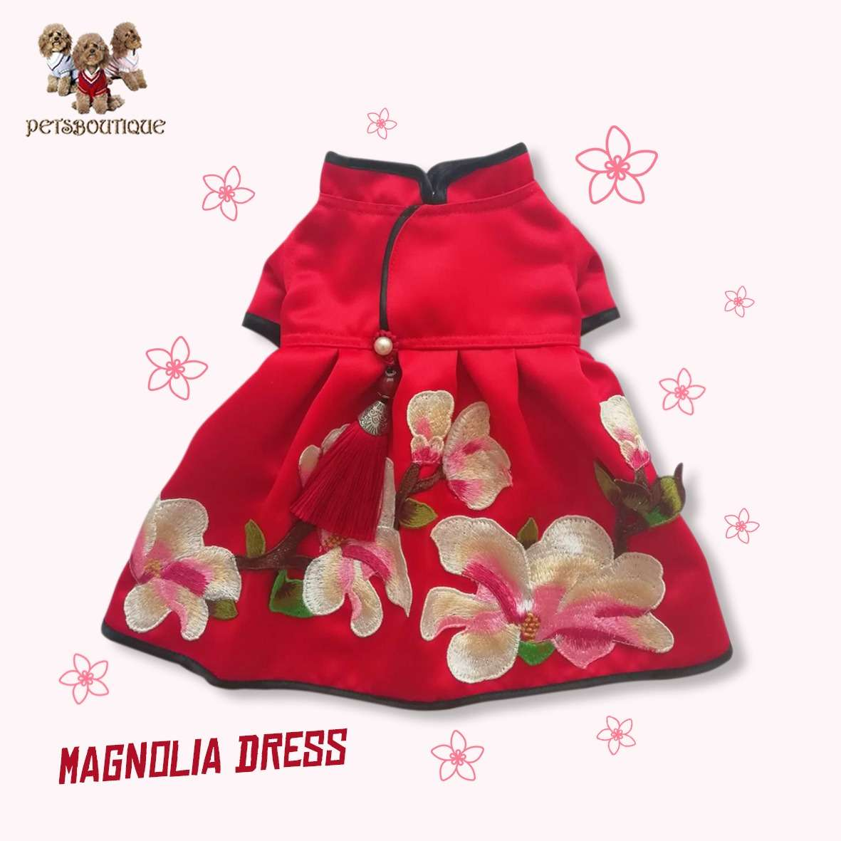Petza - Chinese New Year Oriental - Magnolia Dress Photo