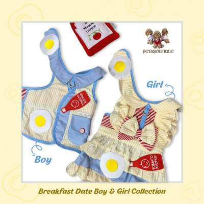 Glitter Pooch - Breakfast Date Collection for Dog & Cat Harness set Photo