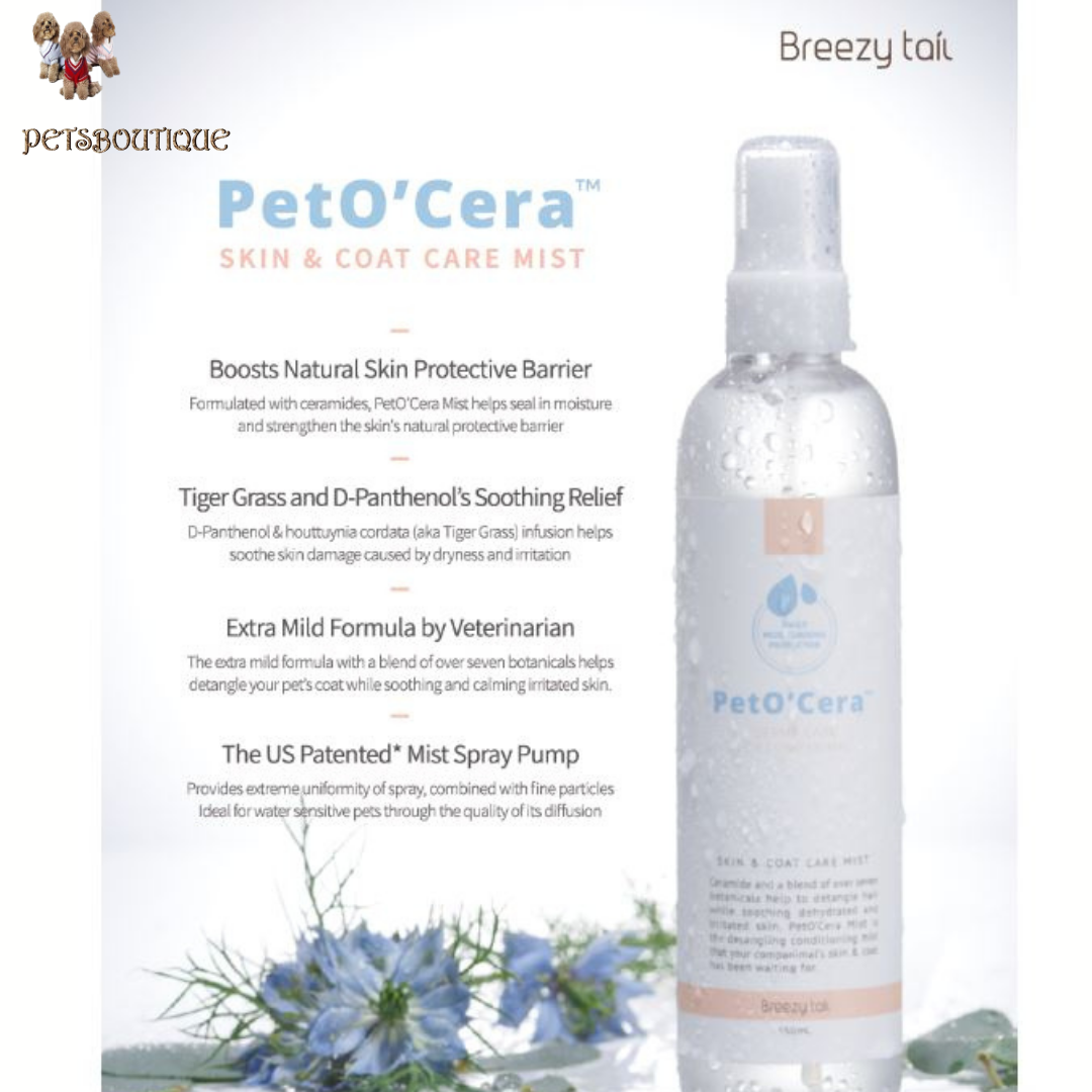 Breezytail - PETO'CERA Mist Skin & Coat Care Conditioning Spray for Dogs and Cats Photo