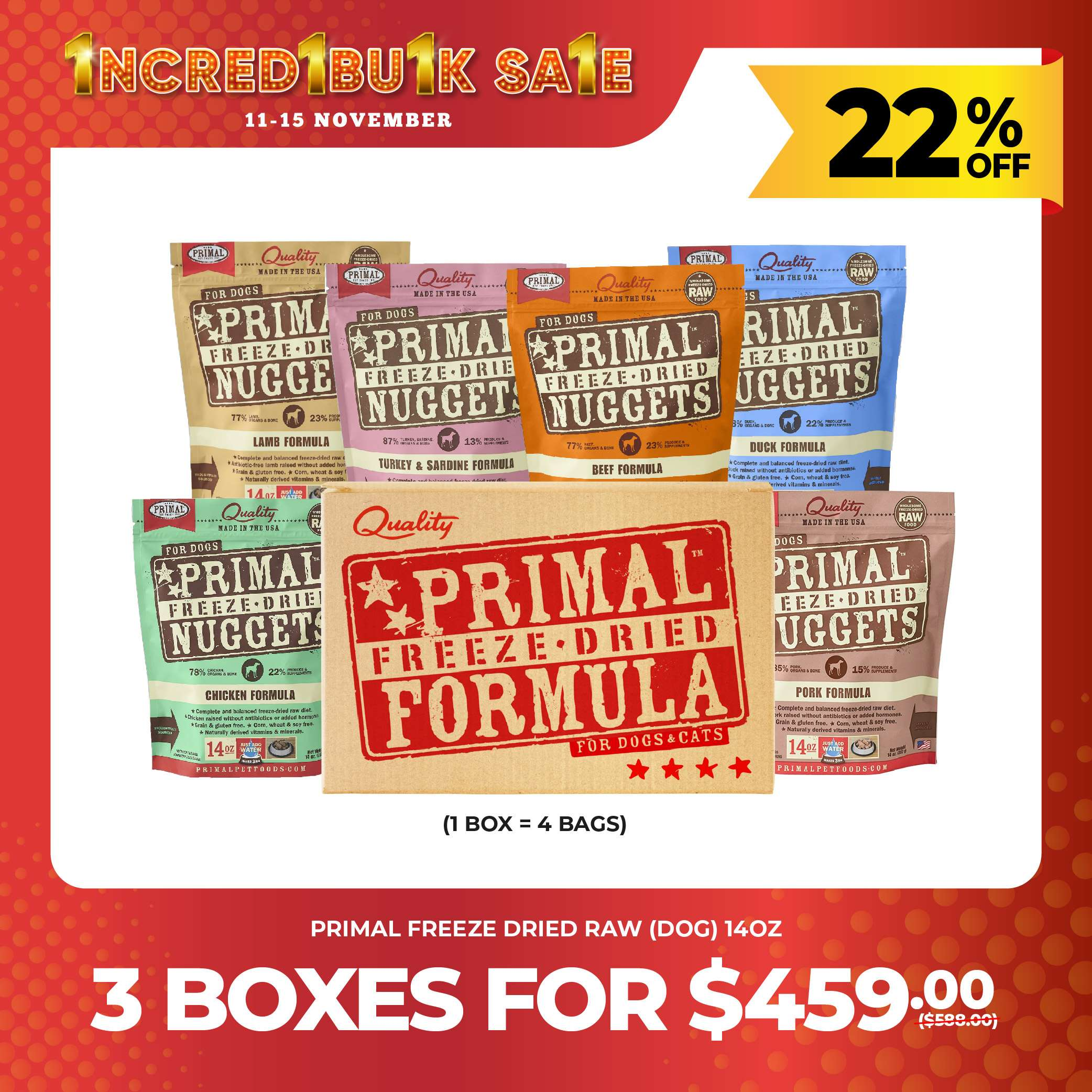 11.11 SALES - [Primal Canine] Freeze-Dried Nuggets for Dogs Photo
