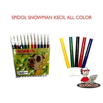 SPIDOL SNOWMAN KECIL 12 Warna Photo