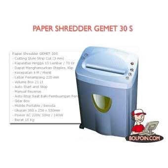 PAPER SHREDDER GEMET 30 S Photo