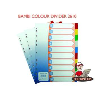 INDEKS SHEETS/DIVIDER BAMBI WARNA 2610 (10) Photo