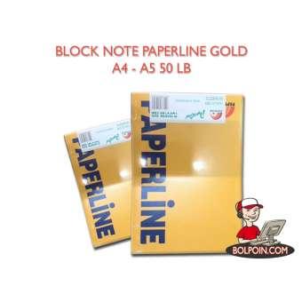 BLOCK NOTE PPL GOLD A4 50 SHEET Photo