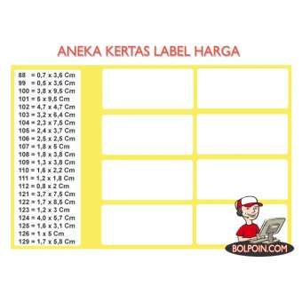 KERTAS LABEL HARGA PHOENIX 109 Photo
