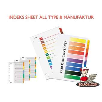 INDEKS SHEETS/DIVIDER DAICHI WARNA 110 (5) Photo