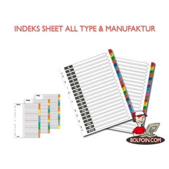 INDEKS SHEETS/DIVIDER SSC HURUF 13013 (A-Z) Photo