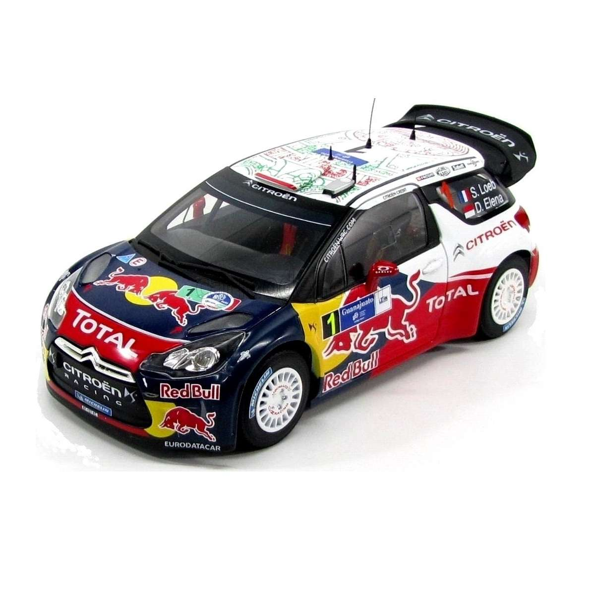 Diecast Car 1/18: Rally - Citroen DS3 WRC, Rally Guanajuato Mexico 2011 Photo