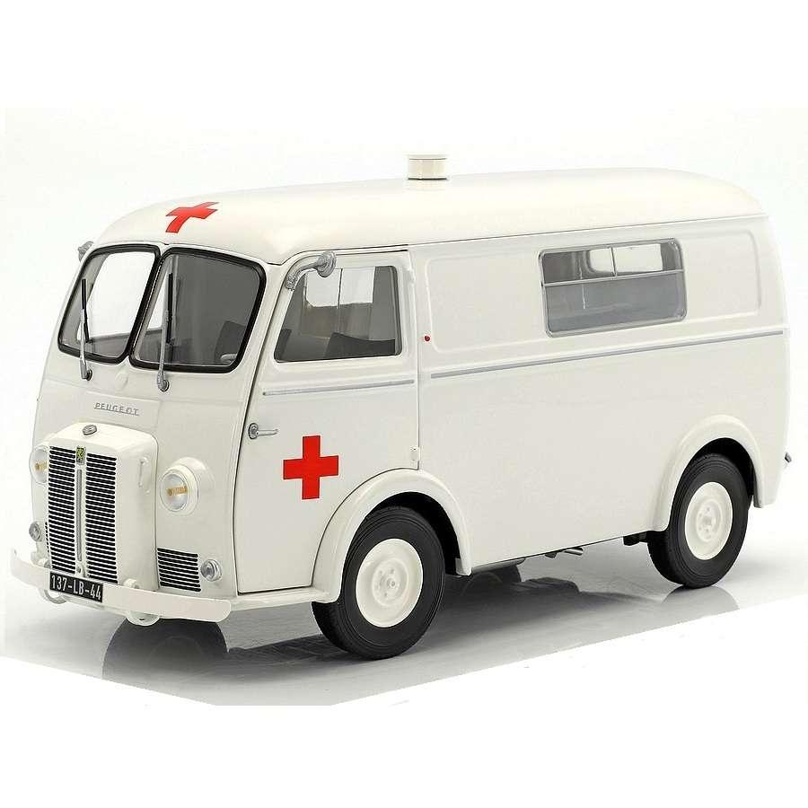 1:18 Norev Peugeot D4B Ambulance 1963 white NEW bei PREMIUM-MODELCARS