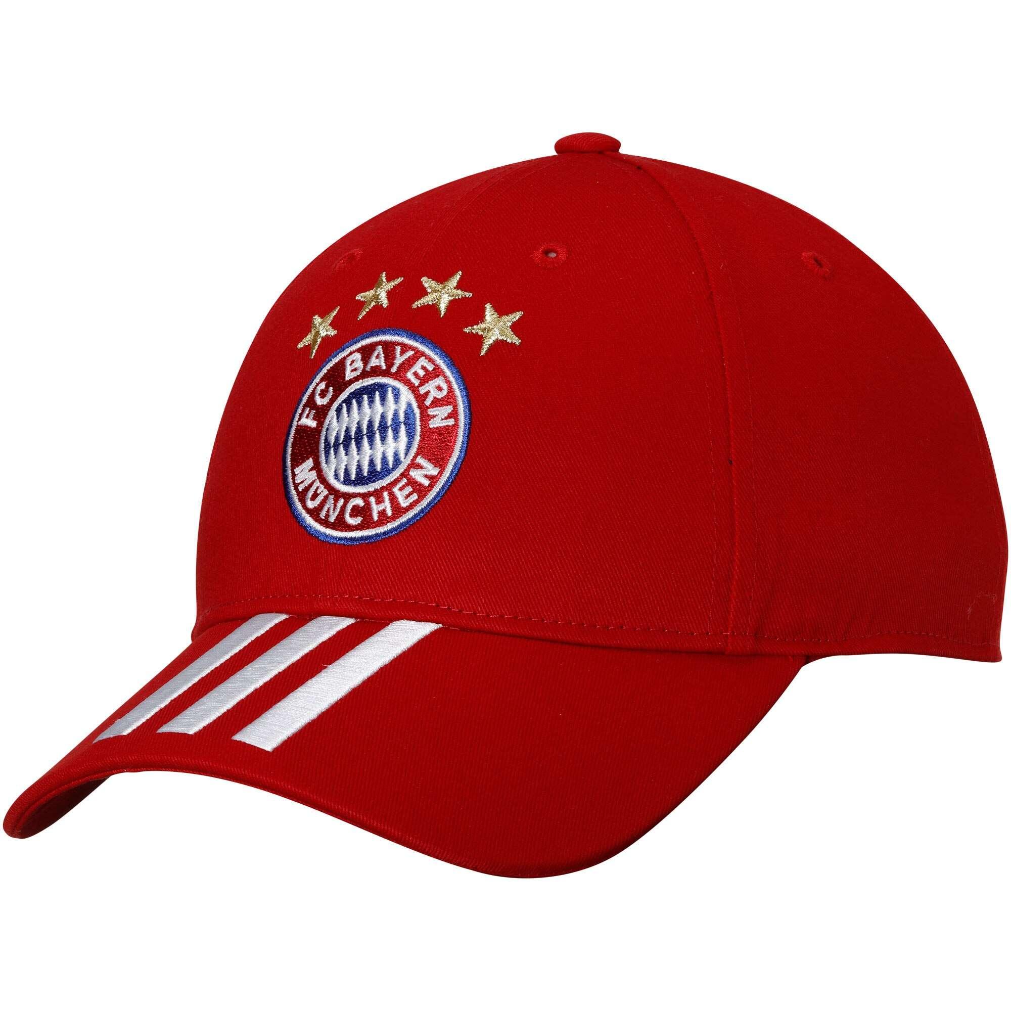 Hat: Soccer - Bayern Munchen Red 3-Stripe Photo