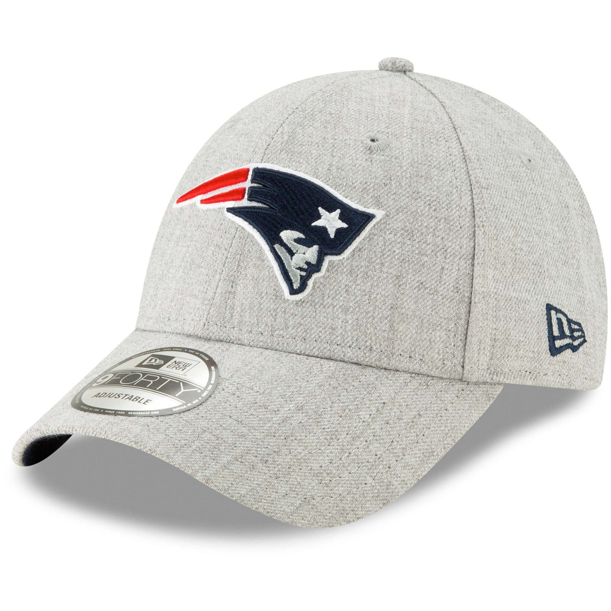 Hat: NFL - New England Patriots Heathered Gray Snapped 9FORTY Photo