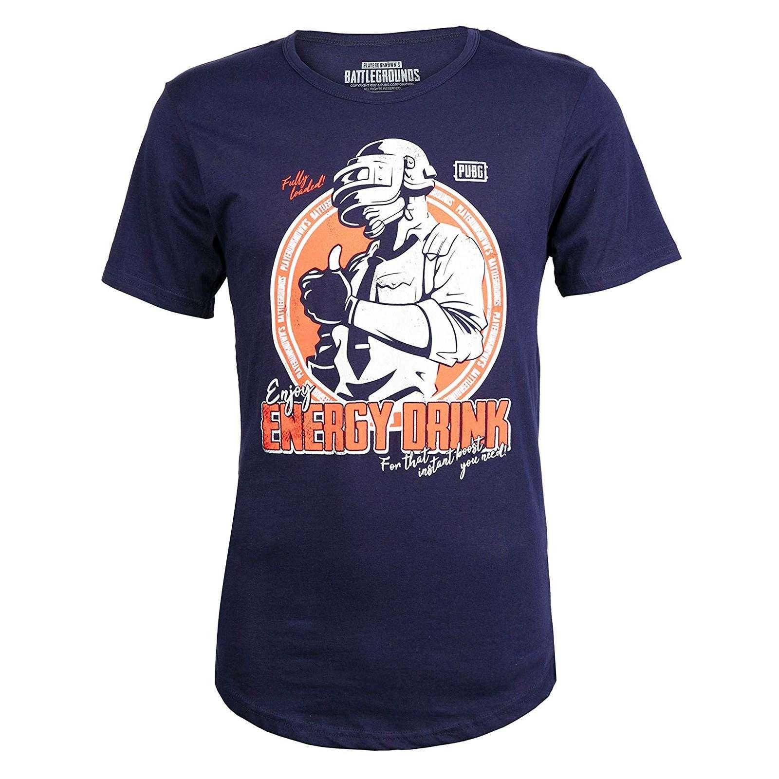 Shirt: PUBG - Energy Drink Drop-Tail T-Shirt Photo