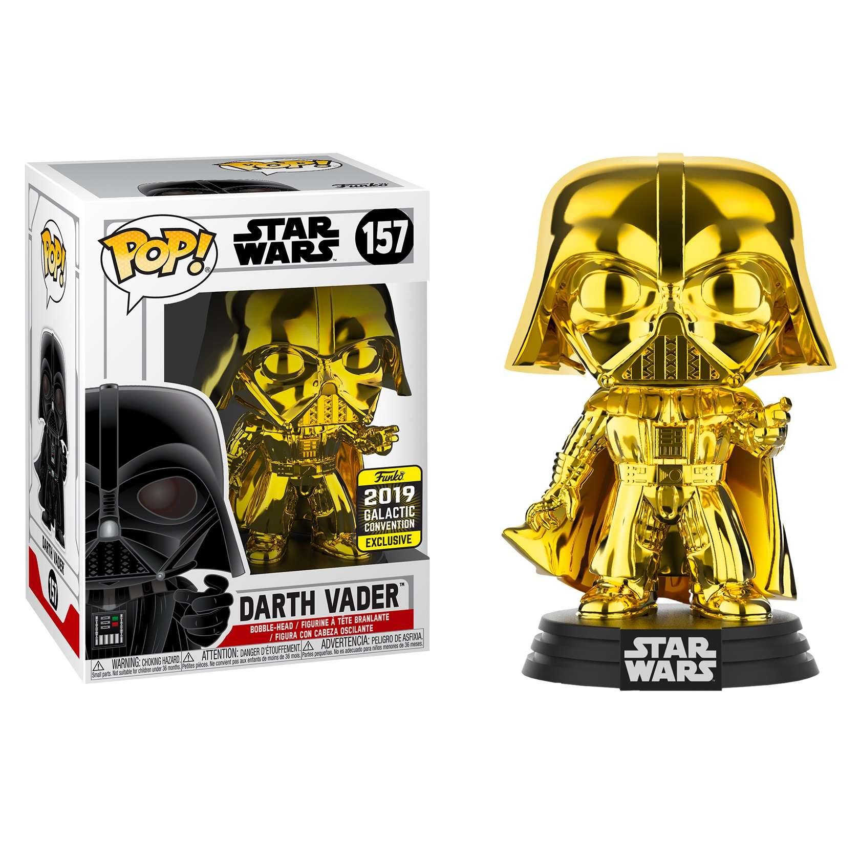 POP!: Star Wars - Darth Vader Gold Chrome (Galactic Convention Exclusive 2019) Photo