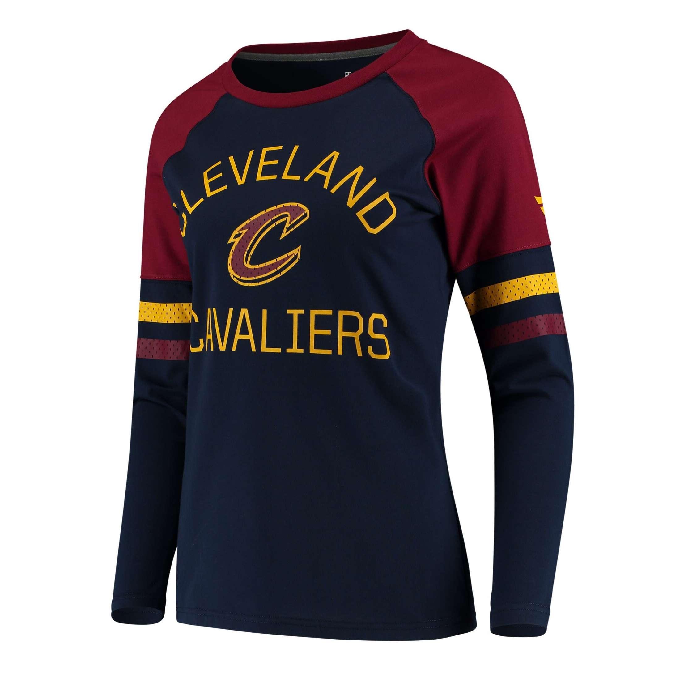 Shirt: NBA - Cleveland Cavaliers Navy/Wine Iconic T-Shirt (Women) Photo