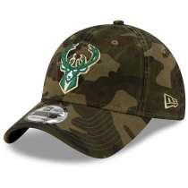 Hat: NBA - Milwaukee Bucks Camo Core Classic 9TWENTY Photo
