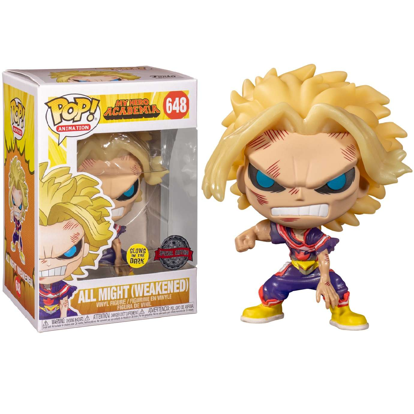 POP!: My Hero Academia - All Might Weakened Glow in the Dark (Exclusive) Photo