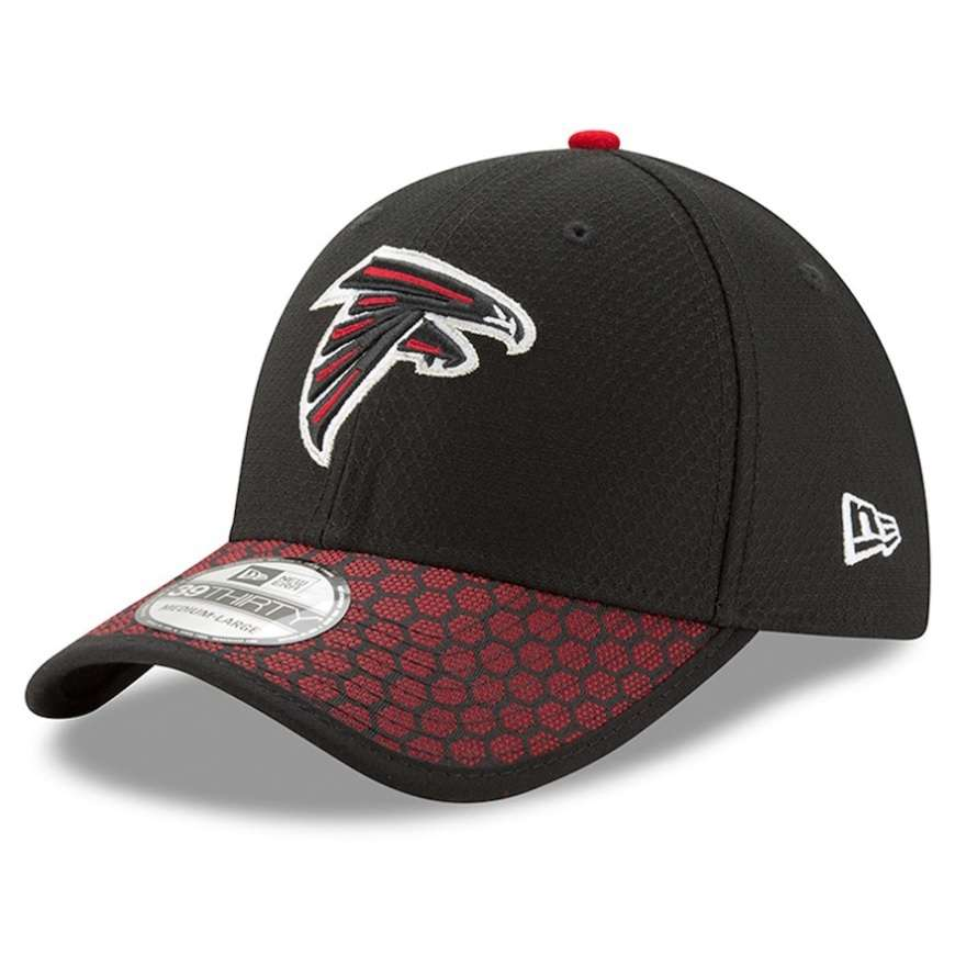 Hat: NFL - Atlanta Falcons Black Sideline Official 39THIRTY Photo